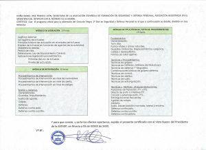 certificado horas lectivas