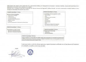 carga lectiva certificado titulo instructor sdp
