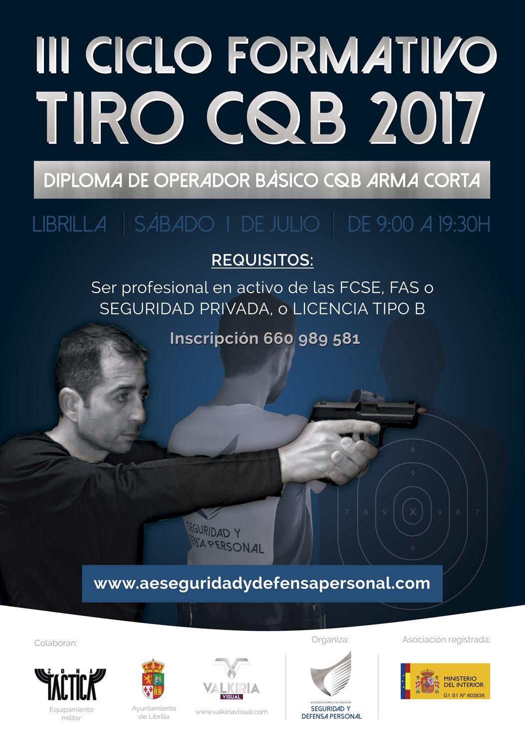 III Ciclo de Formación de Operadores CQB Arma Corta 2017.