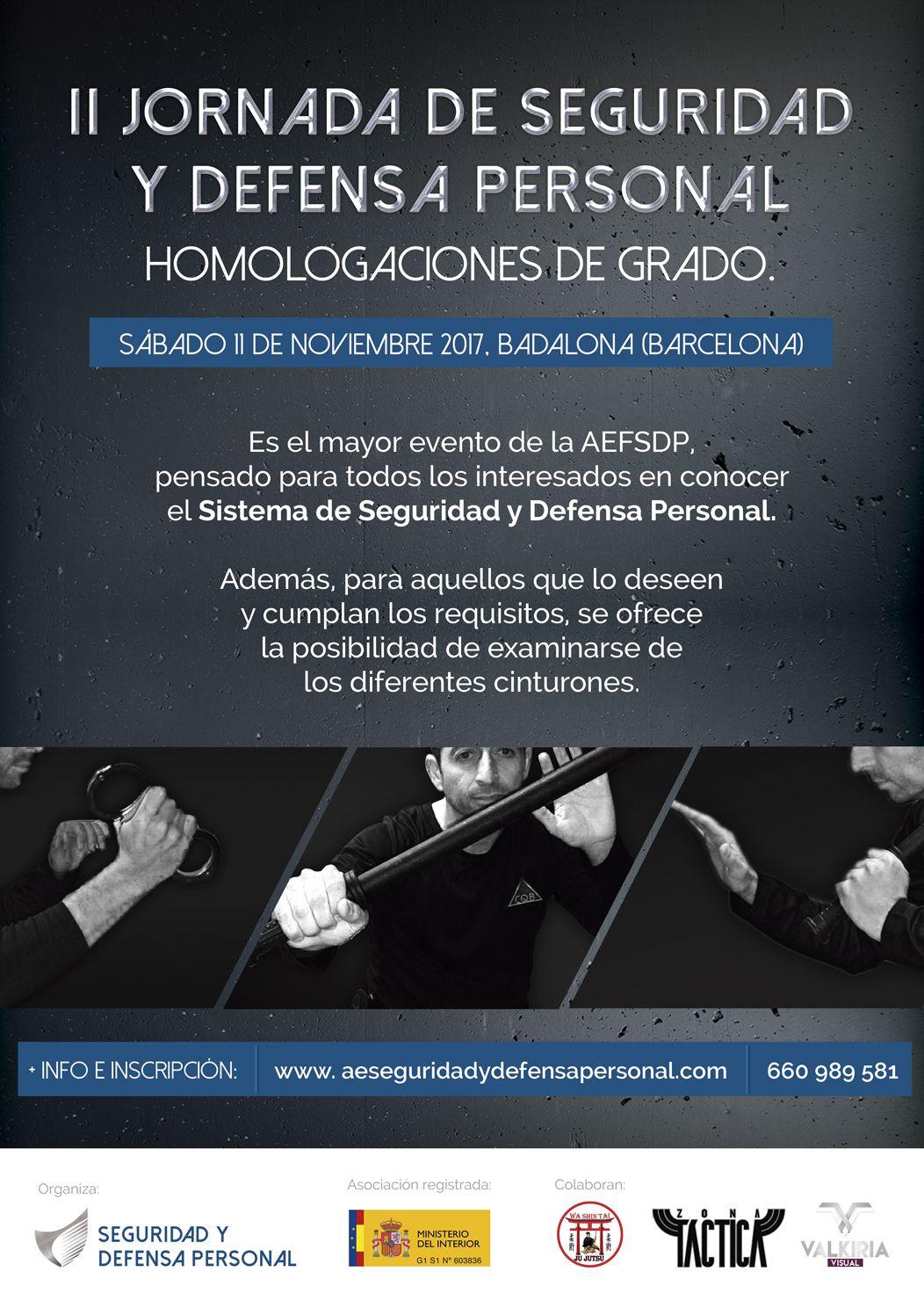 II Jornada de Seguridad y Defensa Personal. Barcelona.