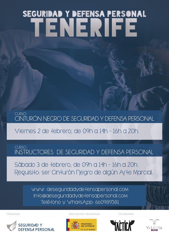 Curso de Cinturón Negro e Instructor de Seguridad y Defensa Personal 2018. Tenerife.