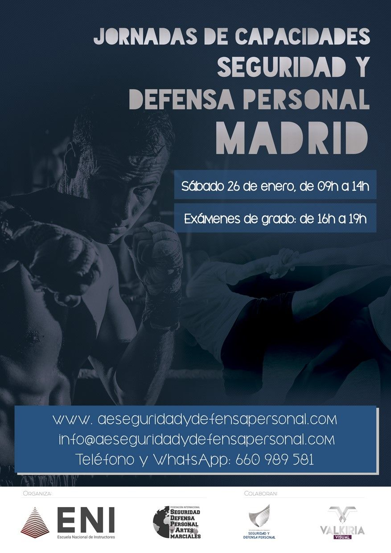 Iº Jornada de Capacidades de Seguridad y Defensa Personal 2019 MADRID.