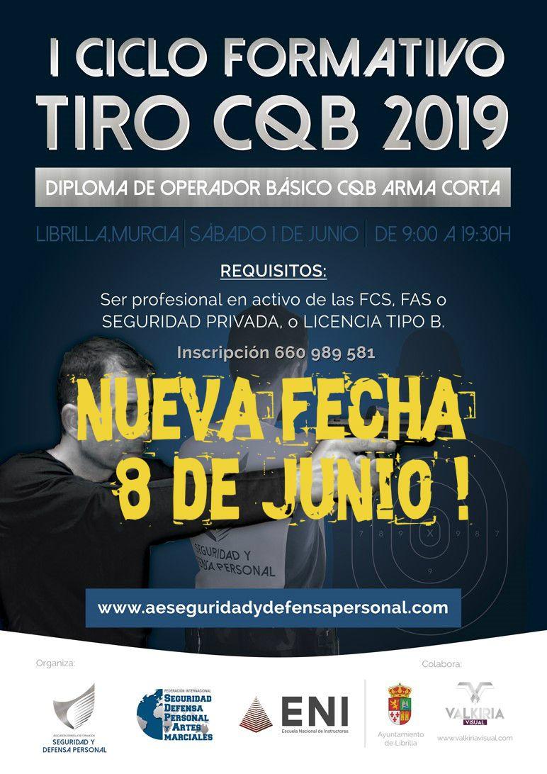 Iº Ciclo de operadores CQB arma corta 2019 en Murcia.