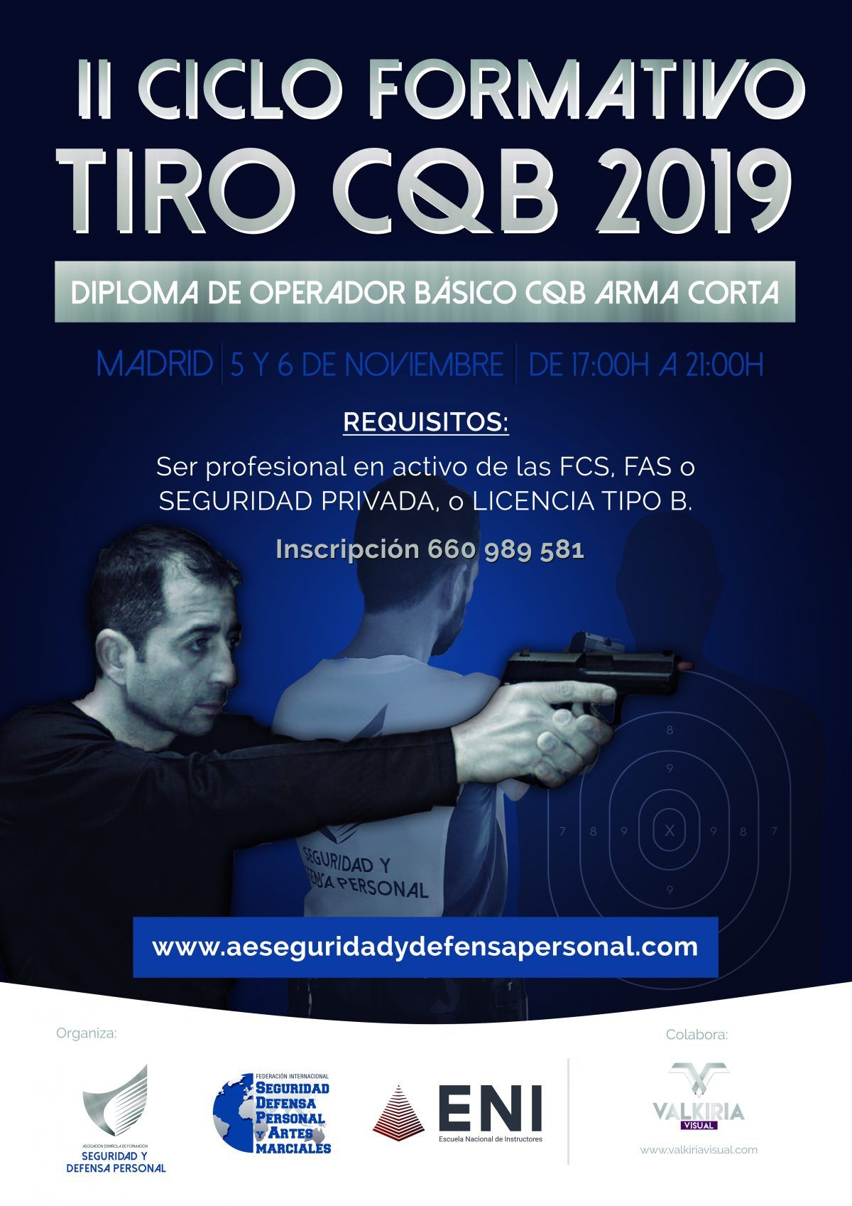 IIº Ciclo de Operadores CQB arma corta en Madrid