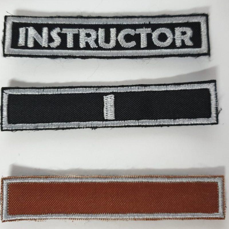 tiras de grado e instructor