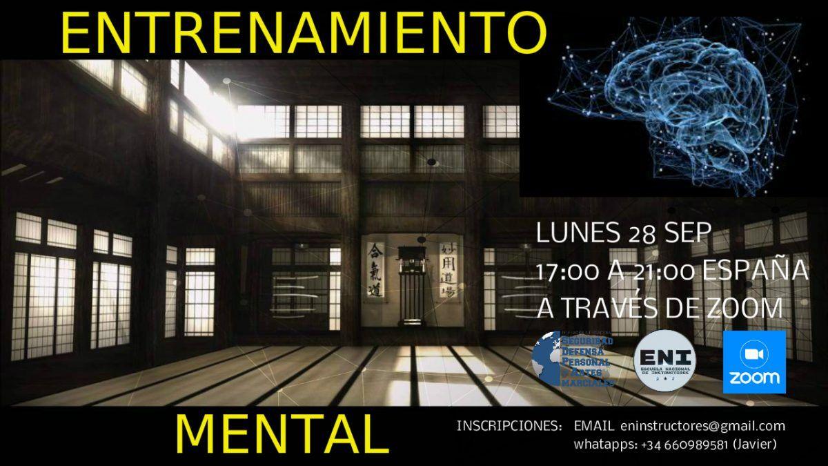 Jornada de Entrenamiento Mental para Instructores de Defensa Personal y Artes Marciales, FCS, FAS y Seguridad Privada.