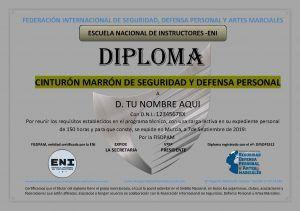 diploma federativo cinturon MARRON DE MUESTRA
