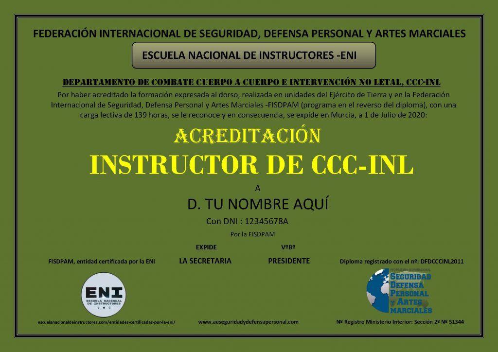 ACREDITACION instructor ccc-inl MUESTRA