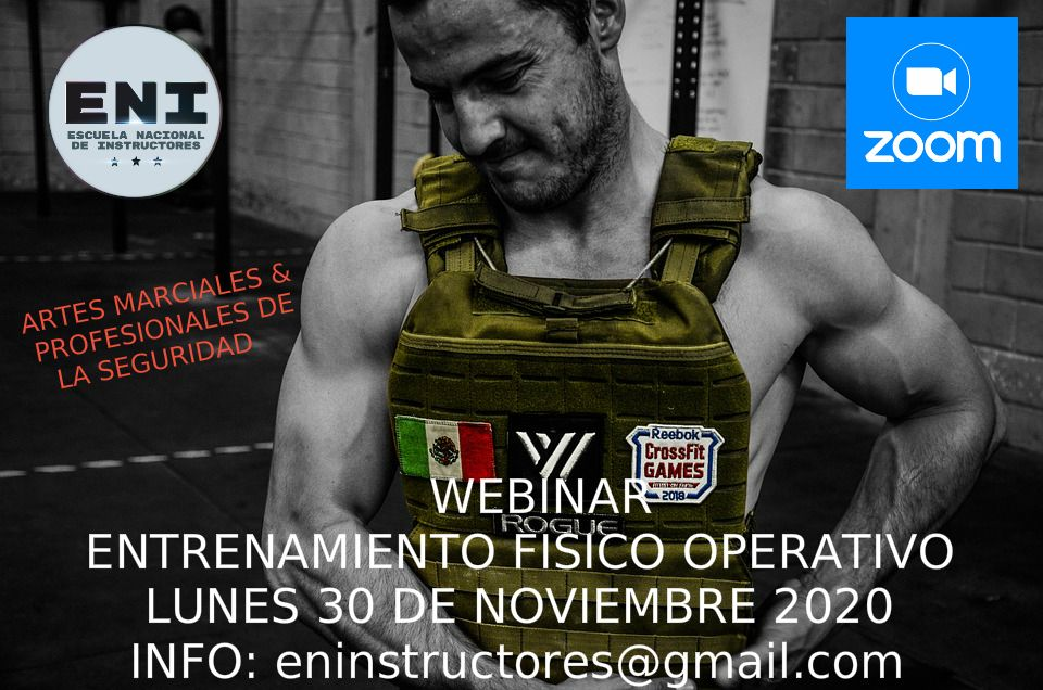 Webinar de Entrenamiento Físico Operativo para las Artes Marciales